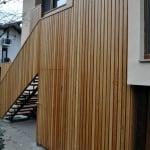 lesena ograja vizmarje stopnice