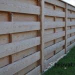 lesena ograja zalec z leve